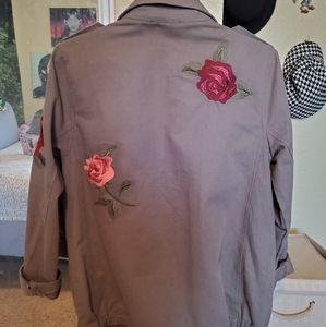 Dolls Kill Jackets & Coats - Rose patch military jacket